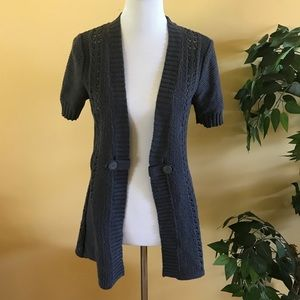 🌼 NWT Maurice's Charcoal Open Front Cardigan Lg
